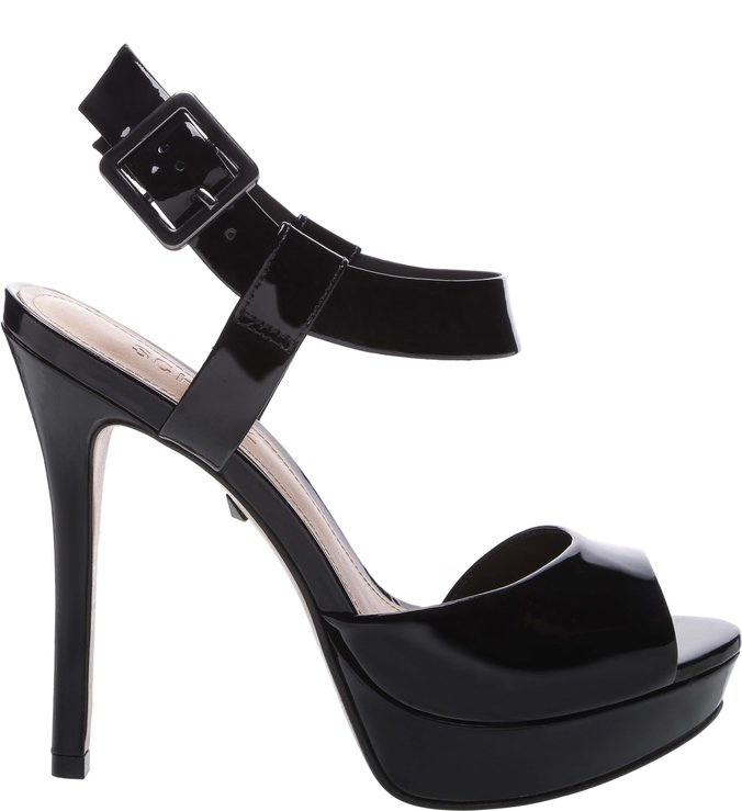 Sandália Super High Verniz Black | Schutz