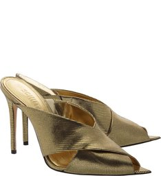 Mule High Straps Metallic