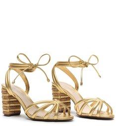 Sandália Fresh Cortiça Gold