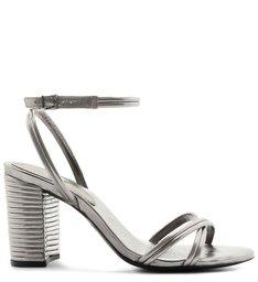Sandália Texture Metallic Prata