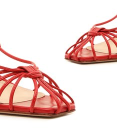 Sandália Strings Lace-Up Red