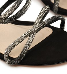 Sandália Mule Block Heel Glam Black