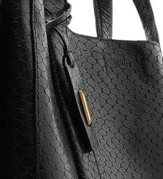 Shopping Bag Archie Snake Black
