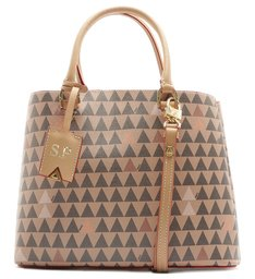 TOTE LARA NEW TRIANGLE AMENDOA