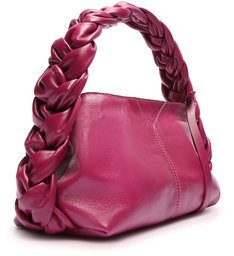 Bolsa Tiracolo Pequena Jenna Couro Pink