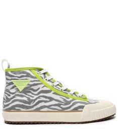 Tênis Smash Cano Alto Zebra Neon Verde