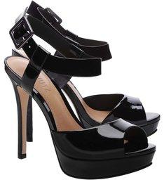 Sandália Super High Verniz Black