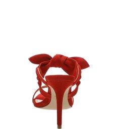 Sandália Mule Nobuck Laço Red