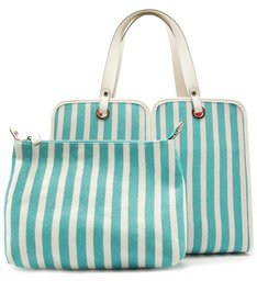 SHOPPING BILLIE STRIPES CYAN