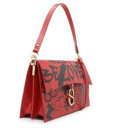 """Shoulder Bag """"A to Z"""" Street Red"""