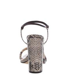 Sandália Salto Bloco Strings Snake