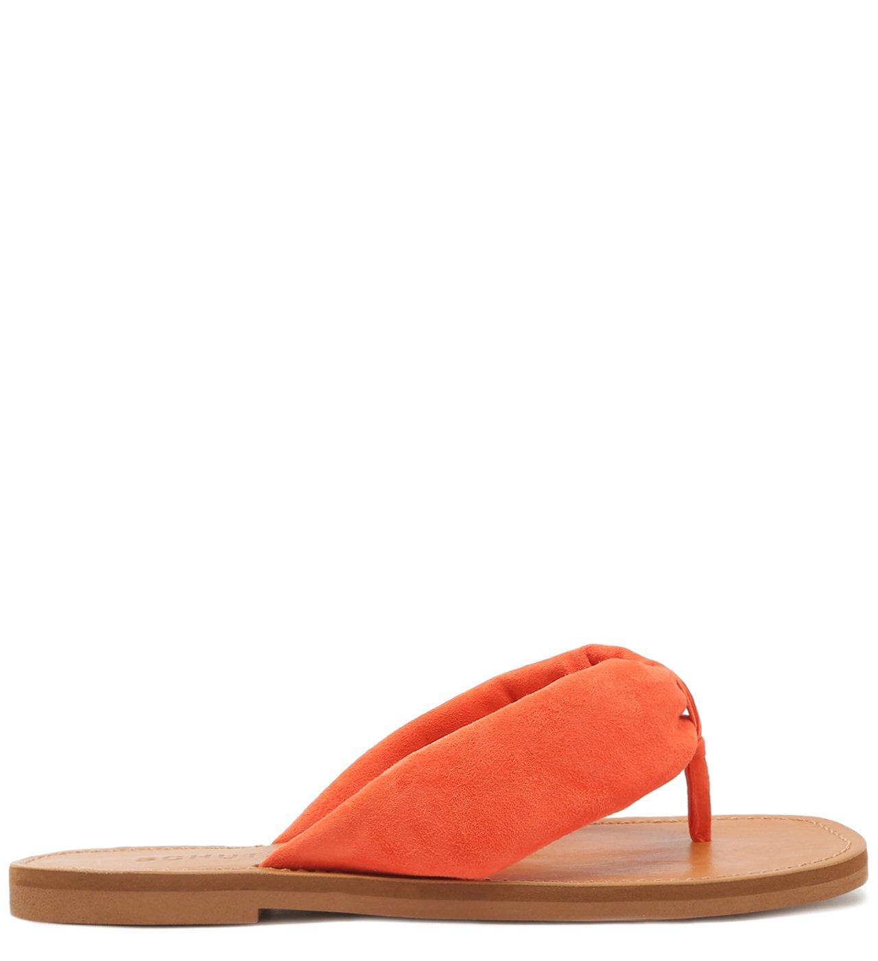 Flat Slide Flip-Flop Ana Suede Orange | Schutz