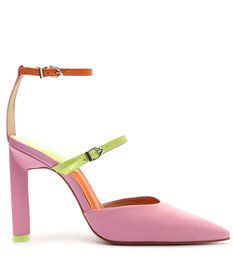 Sapato Scarpin Salto Alto Daniela Couro Rosa