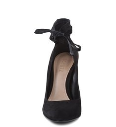 Scarpin Ballerina Lace Up Black