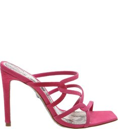 Sandália Mule Trama Python Pink