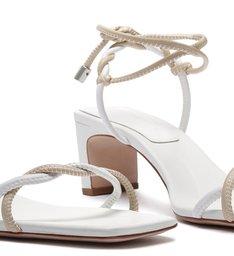 Sandália New Minimal Mid Heel Twist White