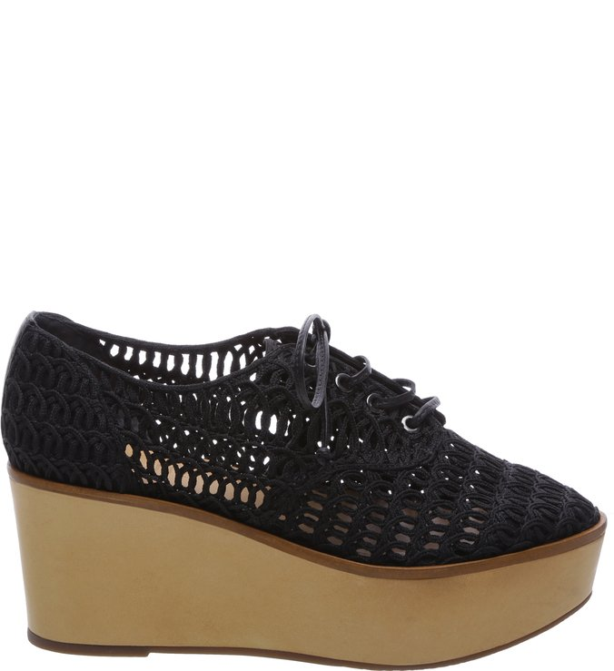 Oxford Flatform String Black | Schutz