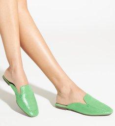 Flat Mule Glam Green