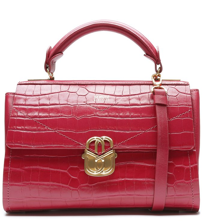 Satchel Penelope Croco Red | Schutz