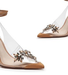 Scarpin Slingback Vinil Glam Honey