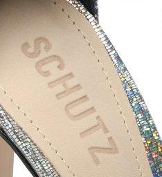 Sandália Minimal Block Heel Pixel Holografico