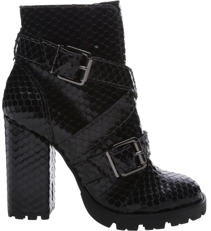 Combat Boot Bright Snake Black