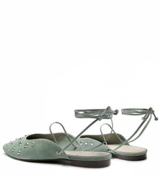 FLAT BALLERINA LACE-UP MINT