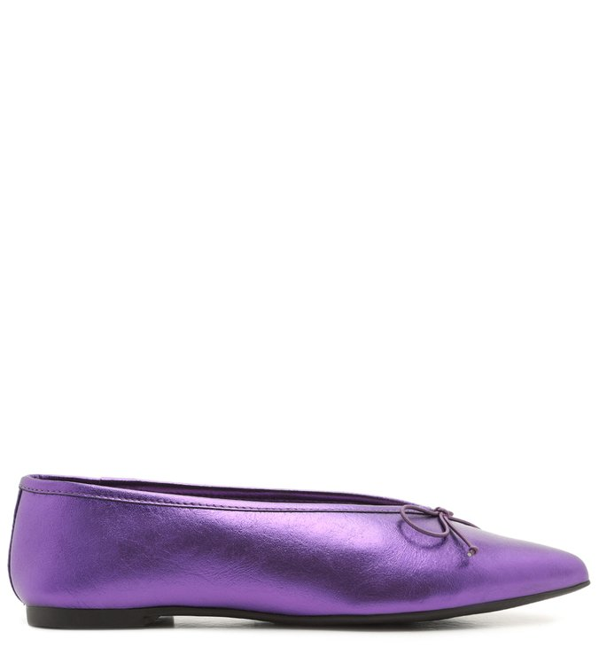 Sapatilha Pointy Metallic Purple | Schutz