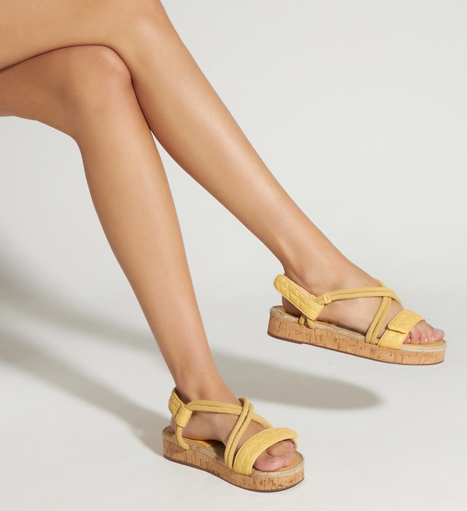 Sporty Sandal Cortiça Yellow