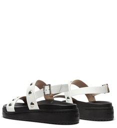 Sporty Sandal Verniz Studs White
