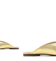 Flat Mule Metallic Ouro