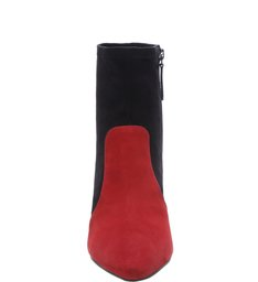 Sock Boot New Western Black & Red