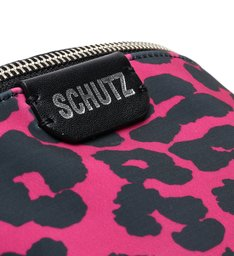 Pochete Neoprene Animal Print Pink