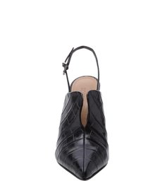Mule Slingback Croco Black