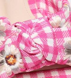 Flat Vichy Floral Pink