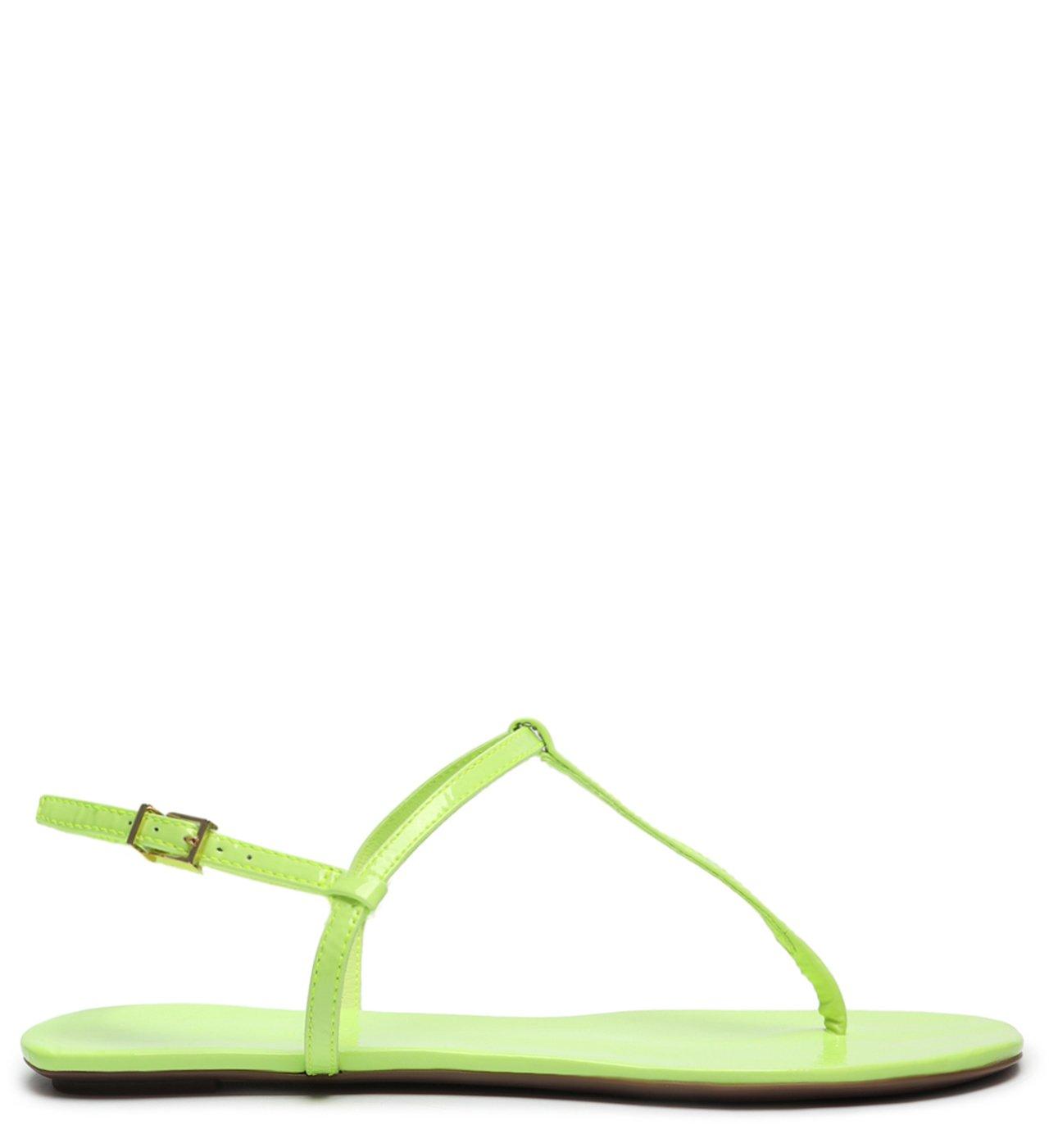 Sandália Rasteira Verniz Neon | Schutz