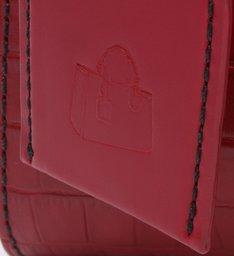 Mini Tote New Lorena Croco Vermelha
