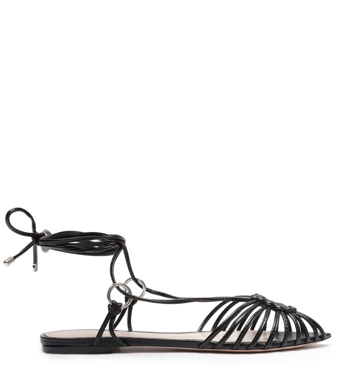 Flat Strings Lace-Up Black