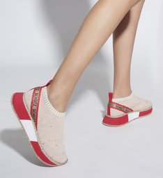 TÊNIS BOLD SOLE KNIT RED & CRU