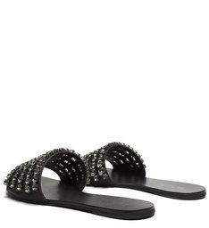 Flat Slide Glam Pedraria Black