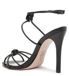 Sandália de Salto Fino Couro Preta