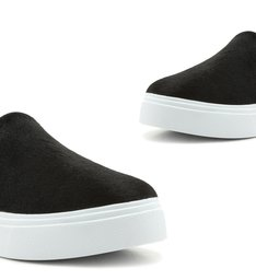 Tênis Slip On Furry Black