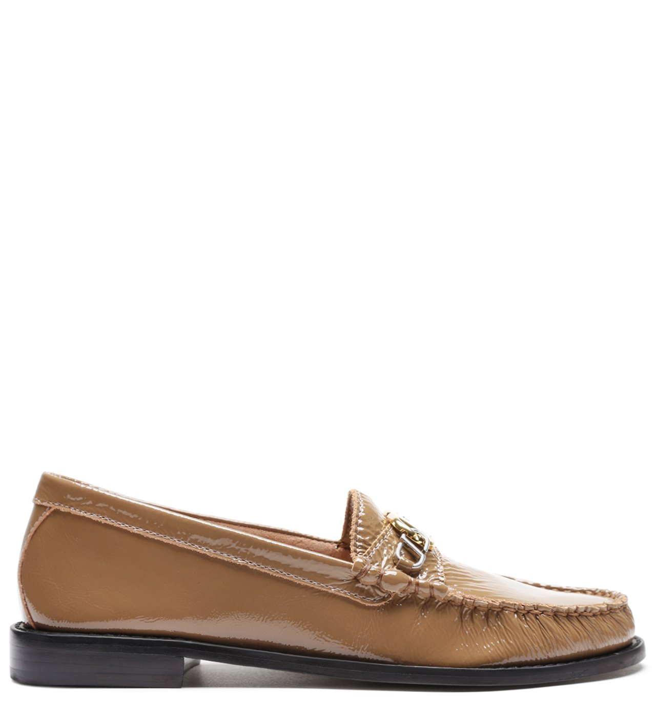 Mocassim Leather Verniz Caramel | Schutz