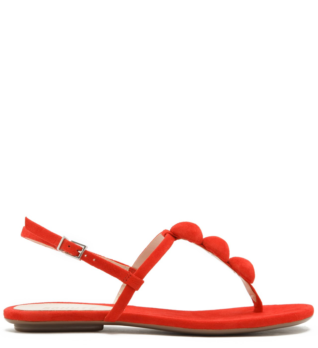 Sandália Rasteira Nobuck Fun Pop Red | Schutz