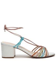 Sandália Block Heel Lace-Up Colors