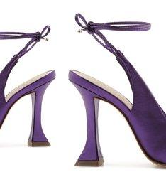 Scarpin Taça Lace-Up Metallic Purple