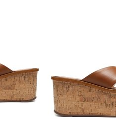 Sandália Flatform Cortiça Minimal Wood