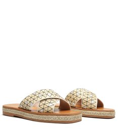 Slide Flatform Cross Palha Natural