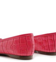 Sapatilha Ballerina Croco Pink