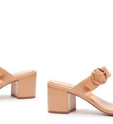 Sandália Mule Block Heel Fivelas Toasty
